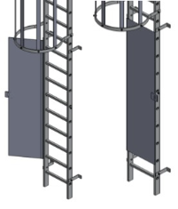 hinged ladder gate