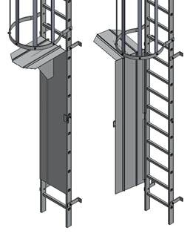 hinged ladder and cage gate