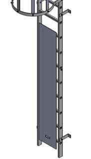 Vertical Ladder Security To Prevent Unauthorised Ladder Access